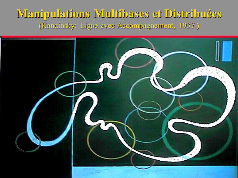 Manipulations Multibases et Distribuées (Kandinsky: Ligne avec Accompagnement, 1937 )