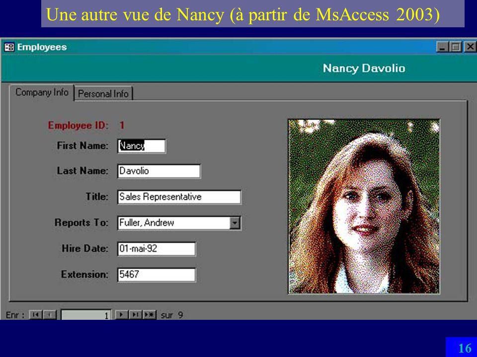 Une autre vue de Nancy (à partir de MsAccess 2003)