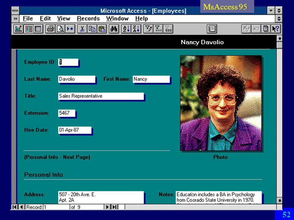 MsAccess 95