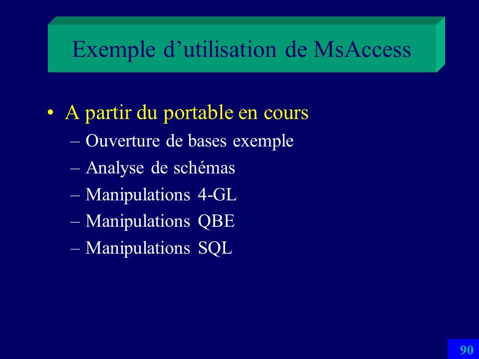 Exemple d'utilisation de MsAccess