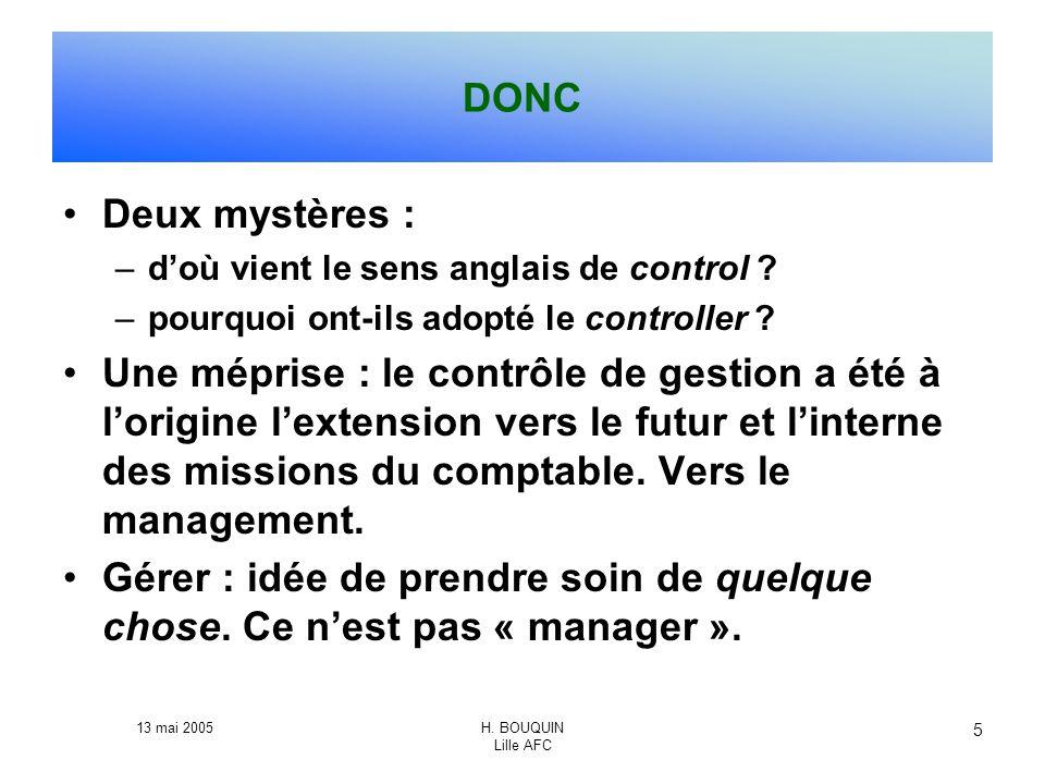 DONC Deux mystères : d'où vient le sens anglais de control pourquoi ont-ils adopté le controller