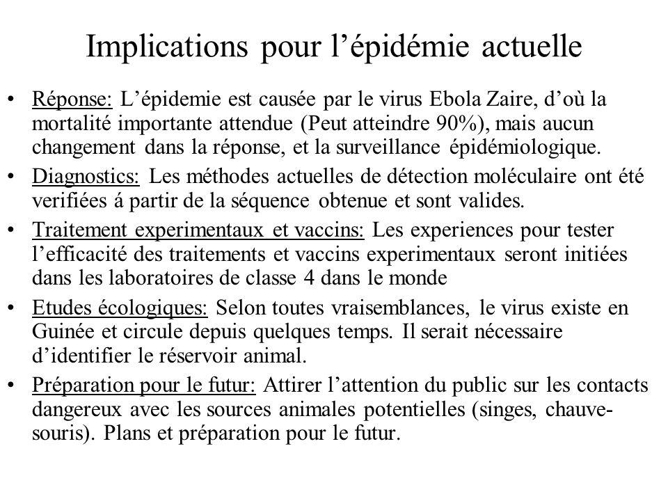 Implications pour l'épidémie actuelle