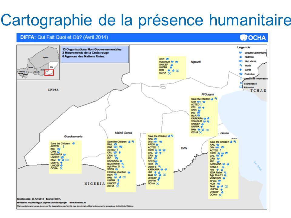 Cartographie de la présence humanitaire