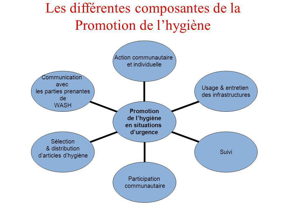 Les différentes composantes de la Promotion de l'hygiène