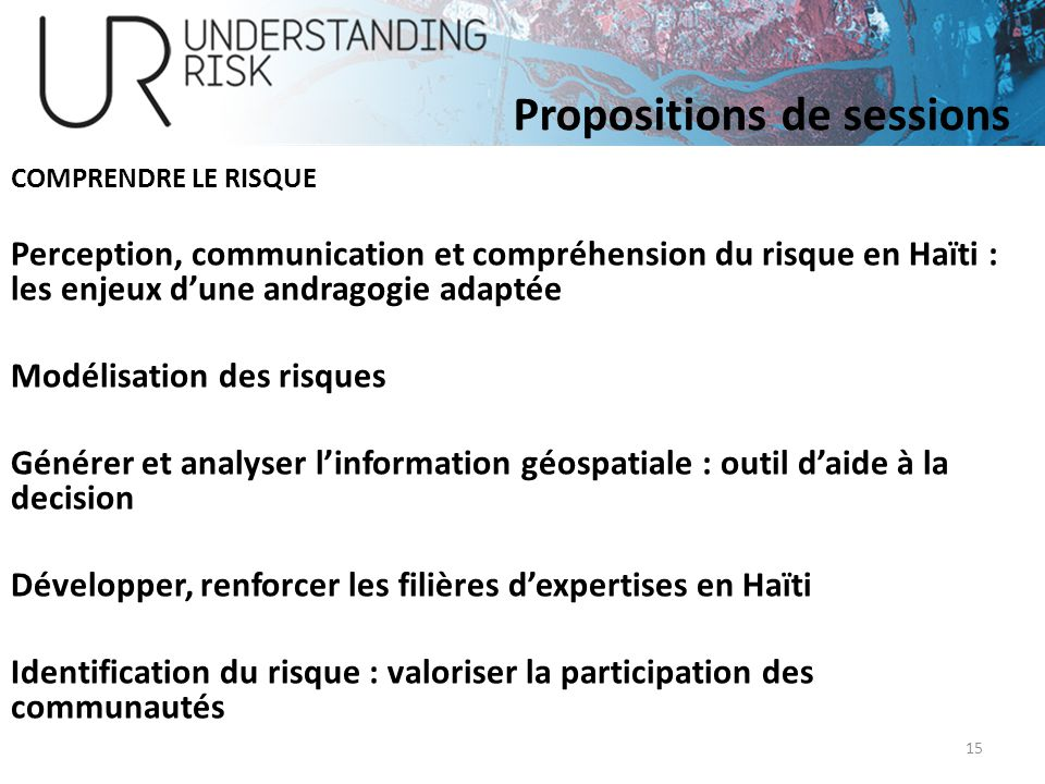 Propositions de sessions