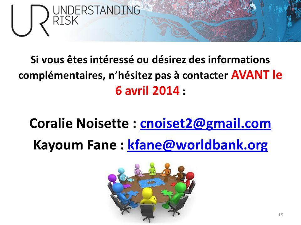 Coralie Noisette : cnoiset2@gmail.com