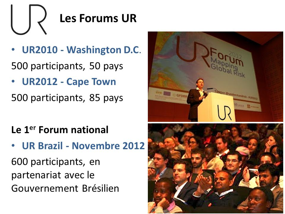 Les Forums UR UR2010 - Washington D.C. 500 participants, 50 pays