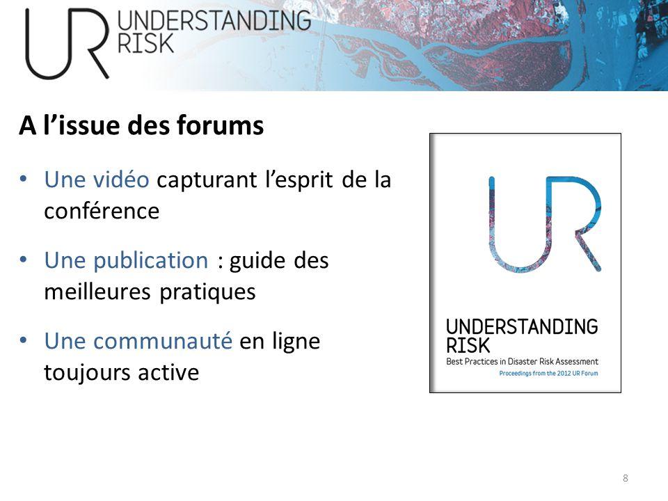 A l'issue des forums Une vidéo capturant l'esprit de la conférence