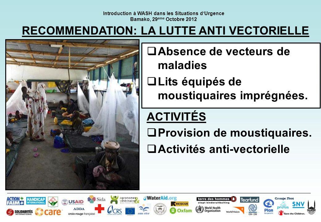 RECOMMENDATION: LA LUTTE ANTI VECTORIELLE