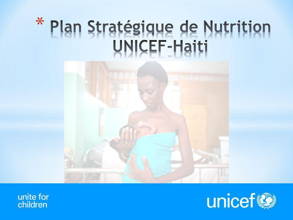 Plan Stratégique de Nutrition UNICEF-Haiti