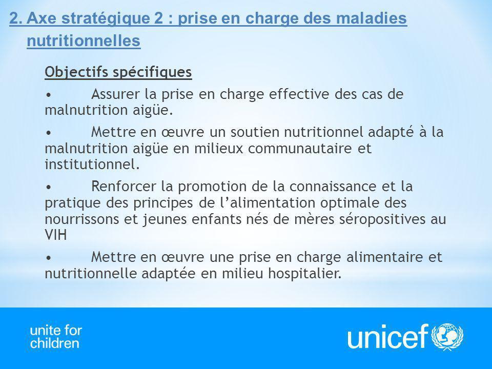 2. Axe stratégique 2 : prise en charge des maladies nutritionnelles