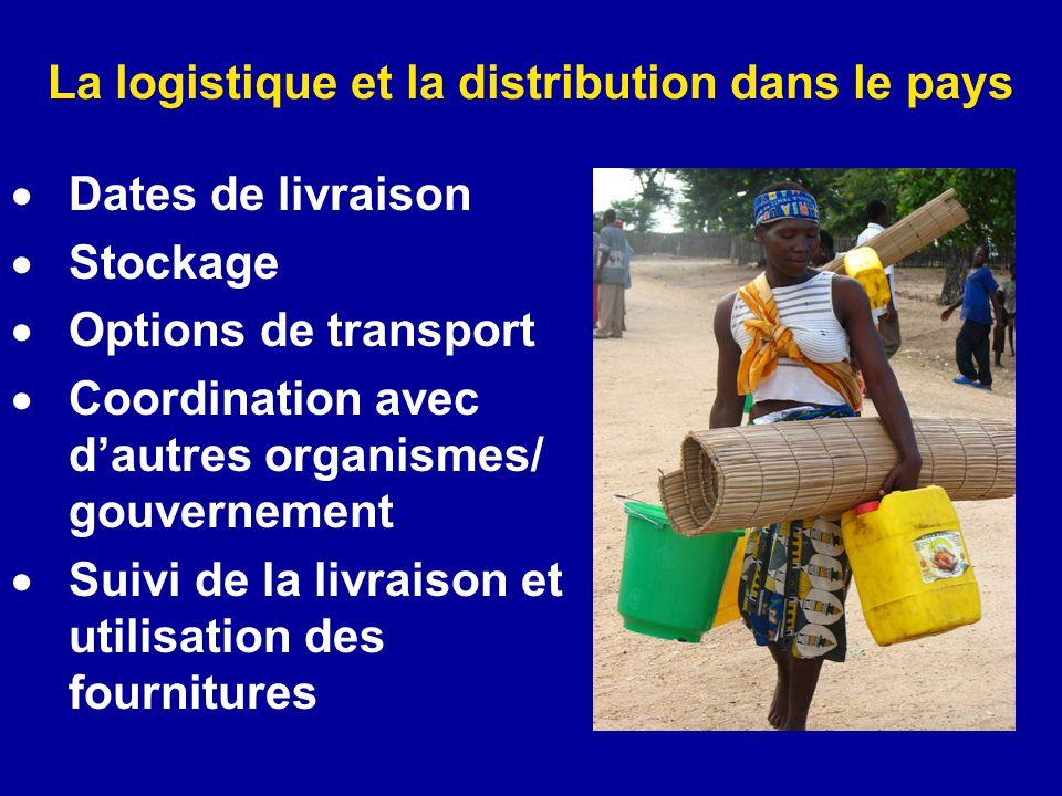 La logistique et la distribution dans le pays