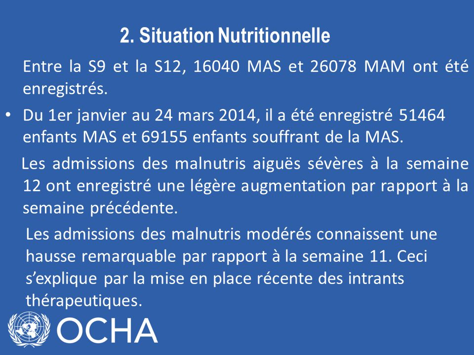 2. Situation Nutritionnelle