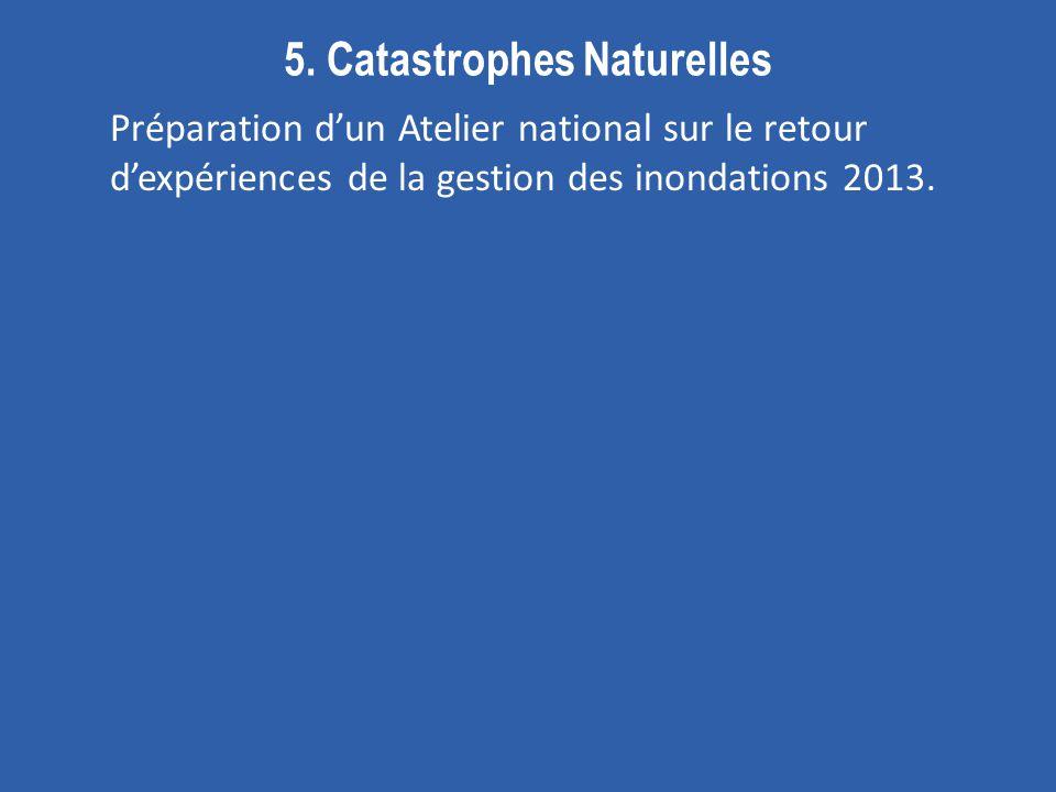 5. Catastrophes Naturelles