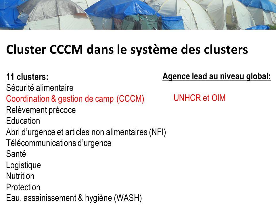 Cluster CCCM dans le système des clusters