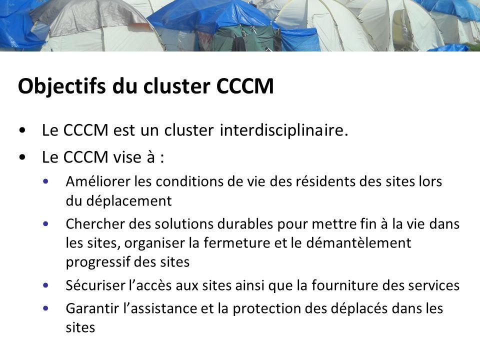 Objectifs du cluster CCCM