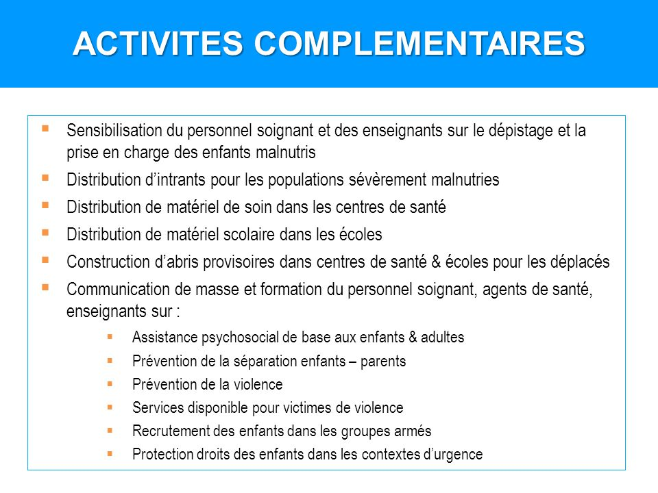 ACTIVITES COMPLEMENTAIRES