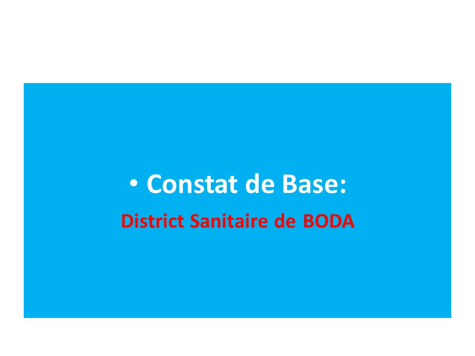 District Sanitaire de BODA