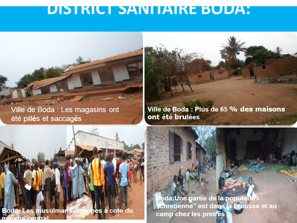 DISTRICT SANITAIRE BODA: