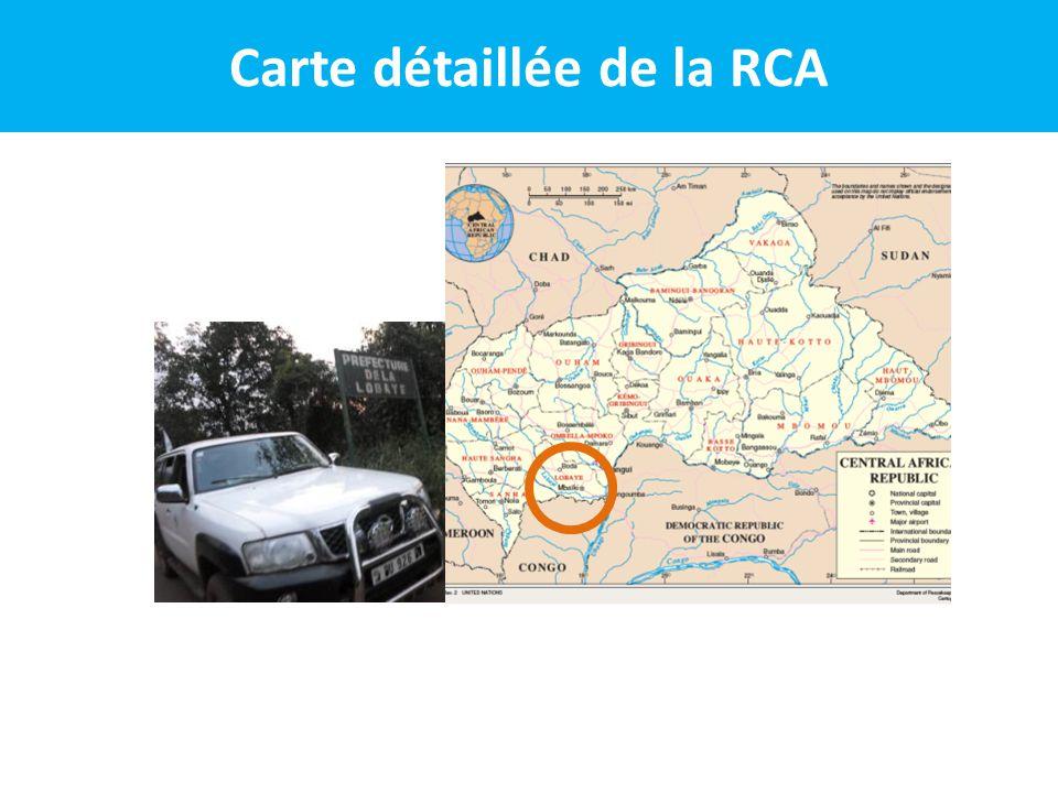 Carte détaillée de la RCA