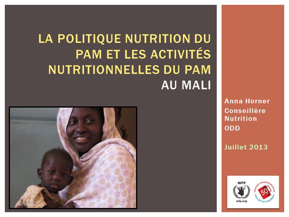 Anna Horner Conseillère Nutrition ODD Juillet 2013