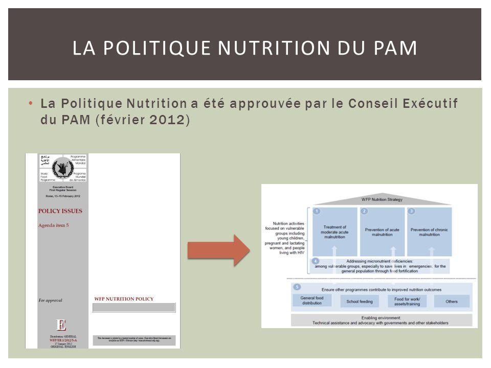 La Politique Nutrition du PAM