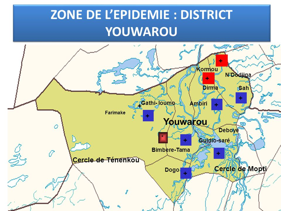ZONE DE L'EPIDEMIE : DISTRICT YOUWAROU