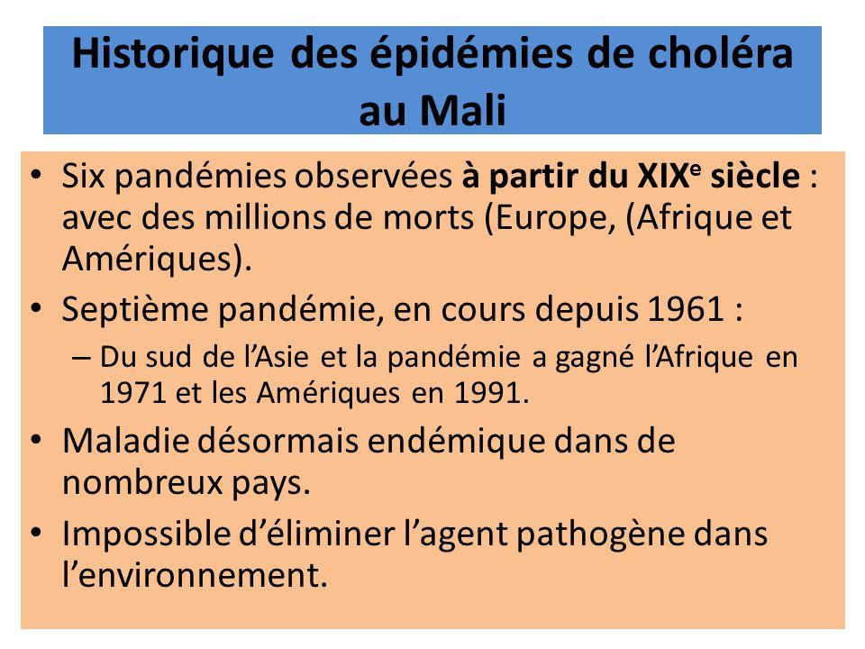 Historique des épidémies de choléra au Mali