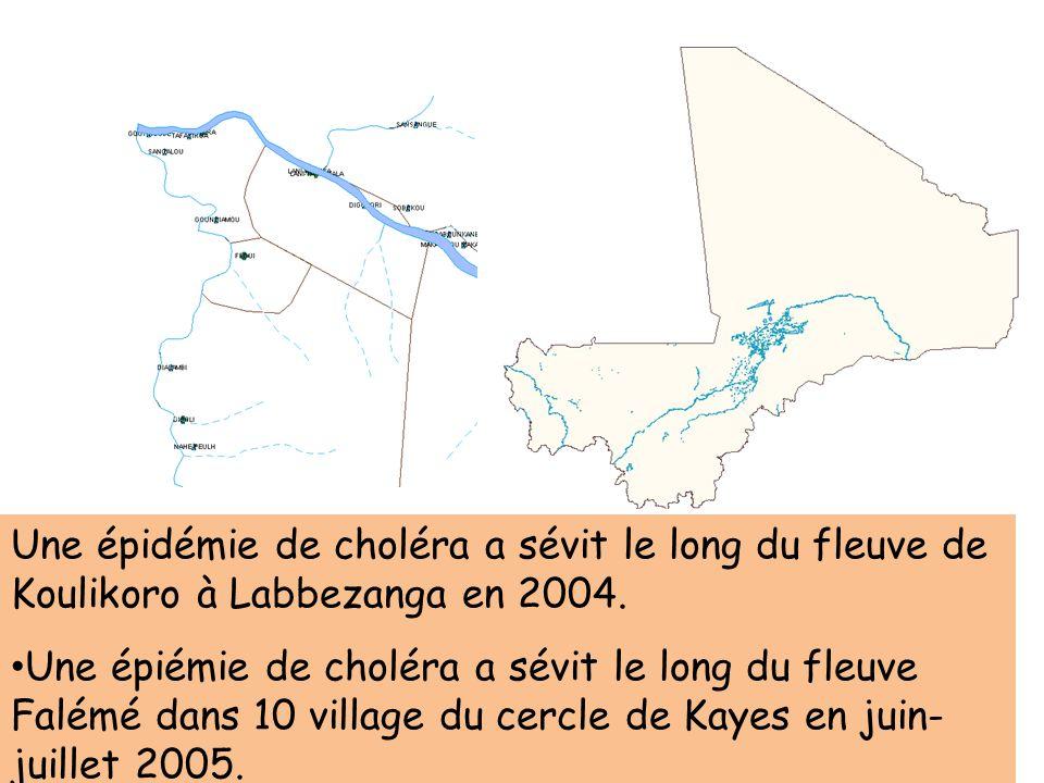 Une épidémie de choléra a sévit le long du fleuve de Koulikoro à Labbezanga en 2004.