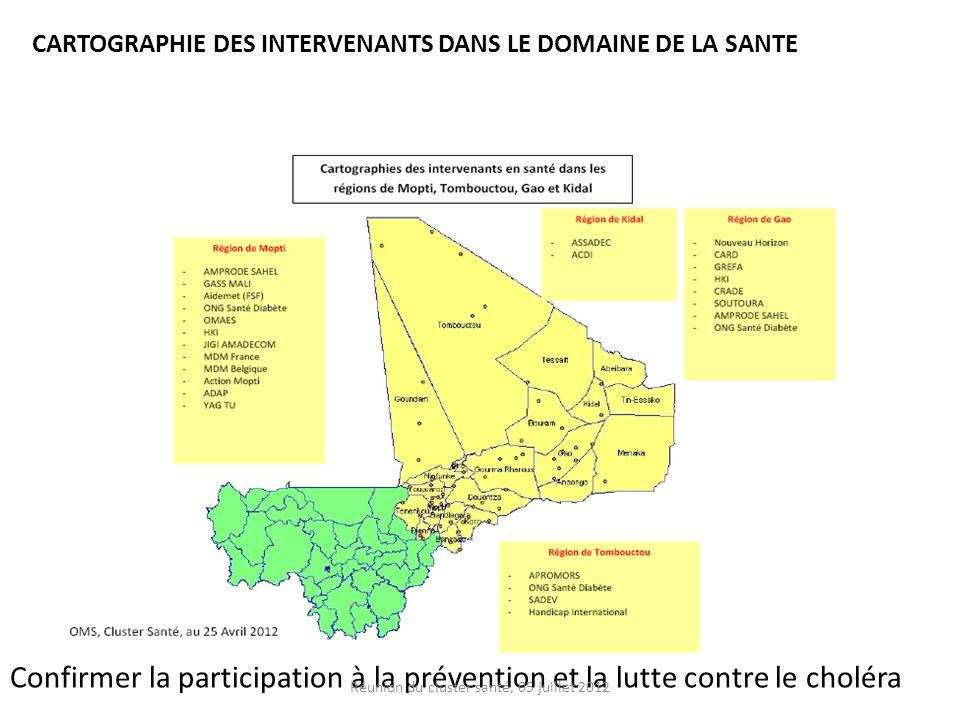 Réunion du cluster santé, 05 juillet 2012