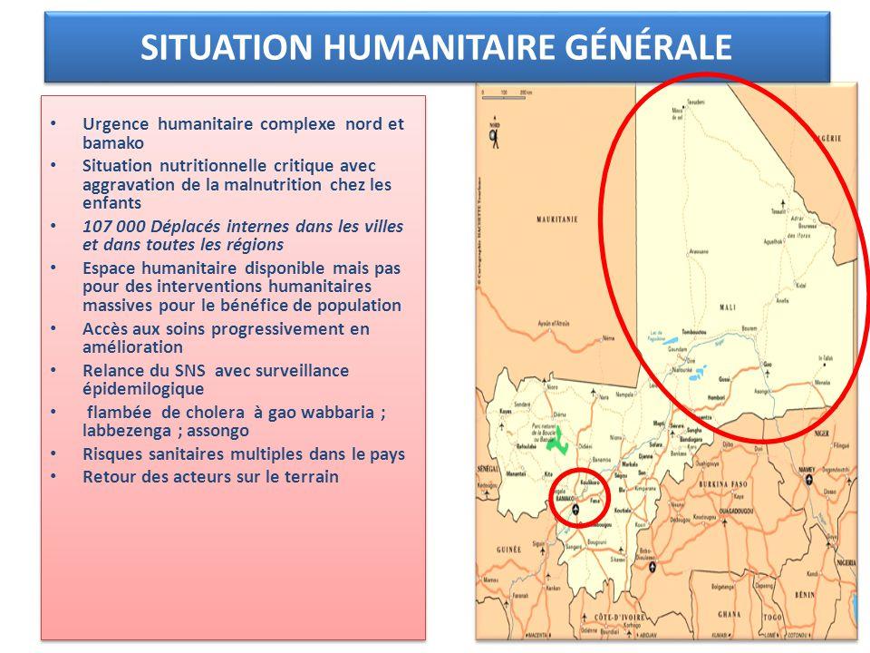 SITUATION HUMANITAIRE GÉNÉRALE