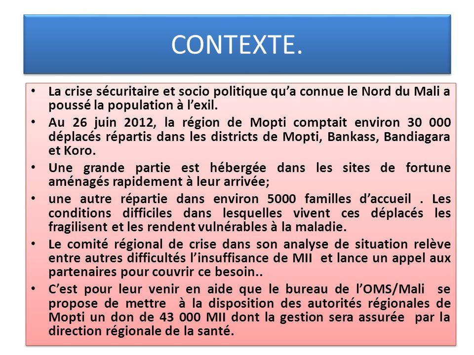 CONTEXTE. La crise sécuritaire et socio politique qu'a connue le Nord du Mali a poussé la population à l'exil.
