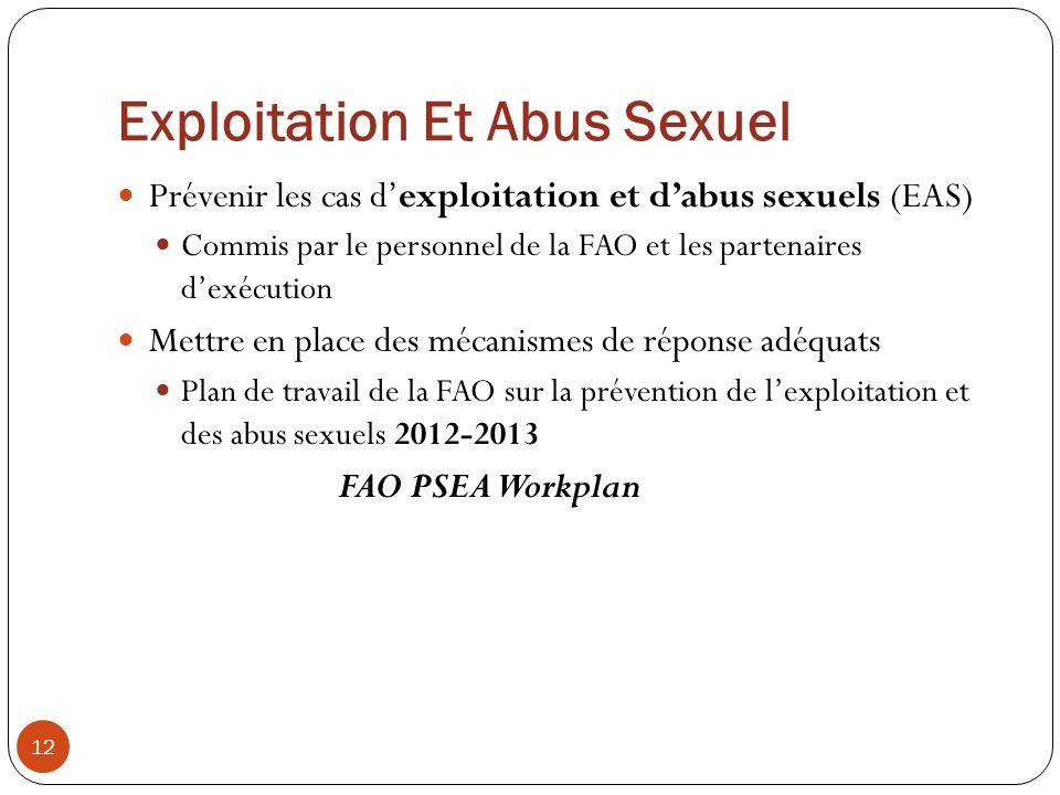 Exploitation Et Abus Sexuel