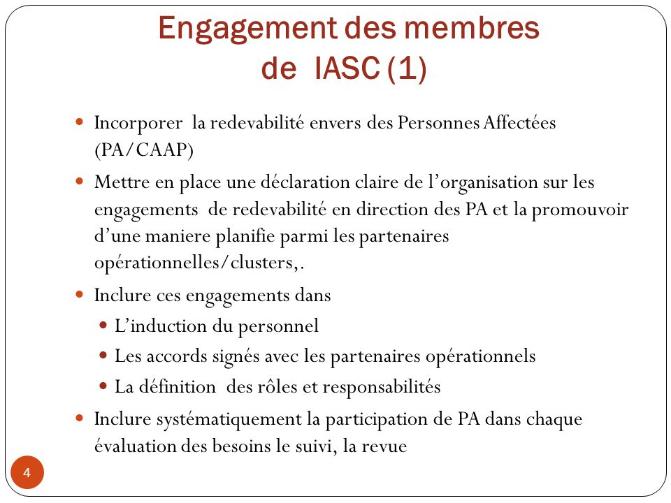 Engagement des membres de IASC (1)