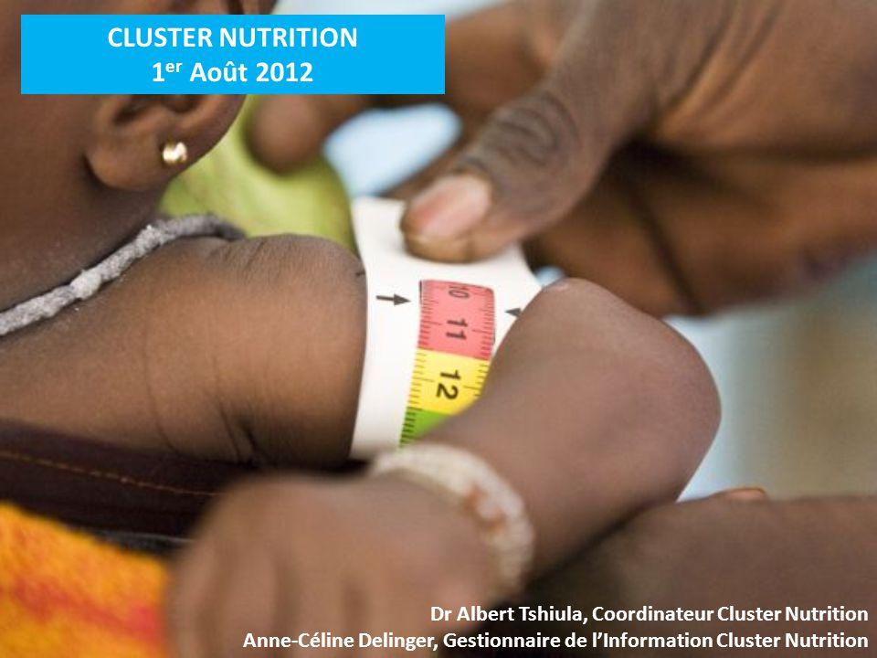 CLUSTER NUTRITION 1er Août 2012