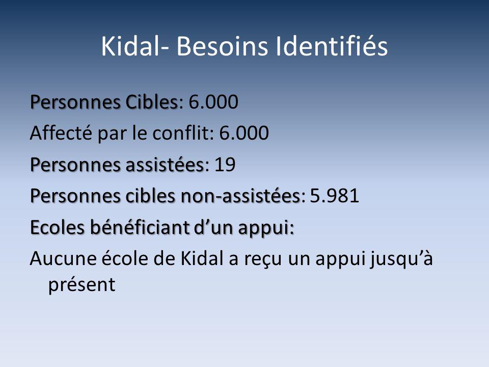 Kidal- Besoins Identifiés