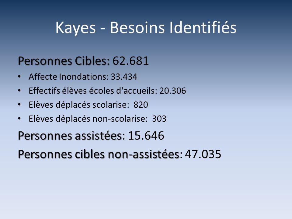 Kayes - Besoins Identifiés
