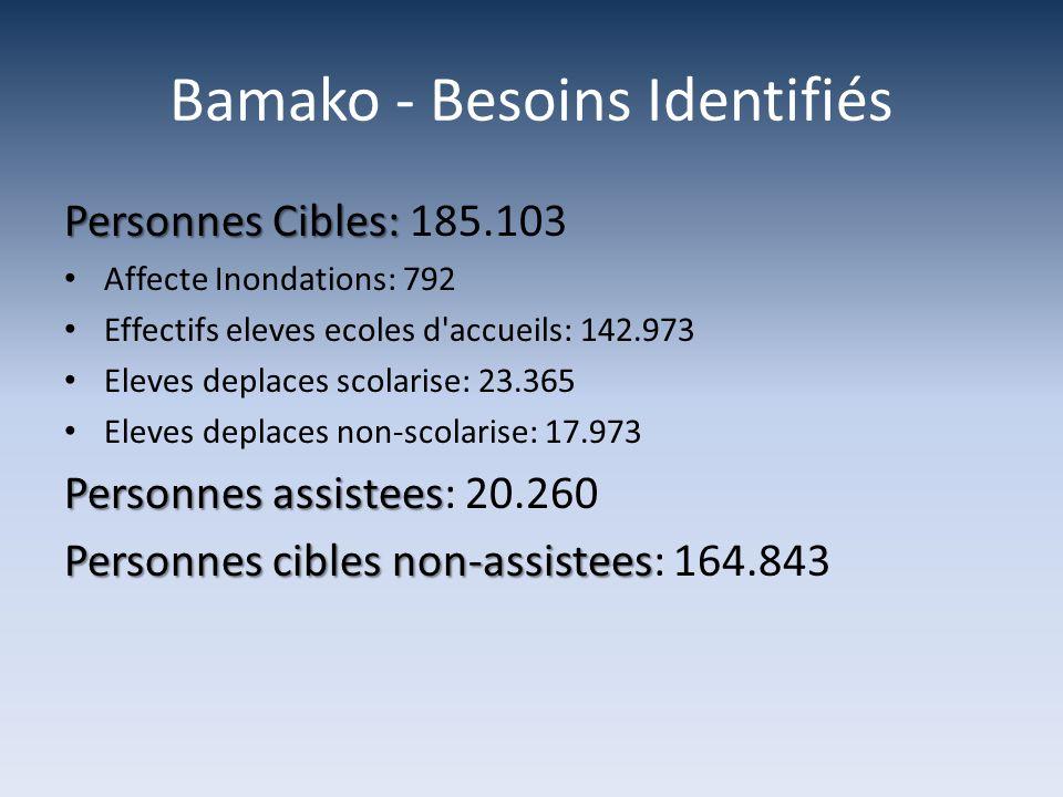 Bamako - Besoins Identifiés