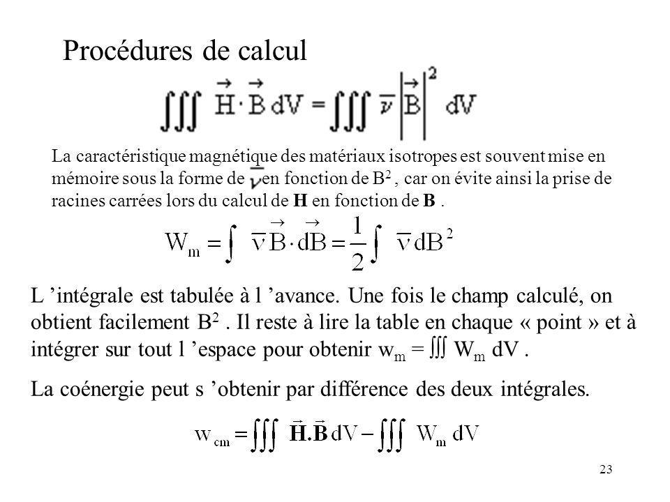 Procédures de calcul