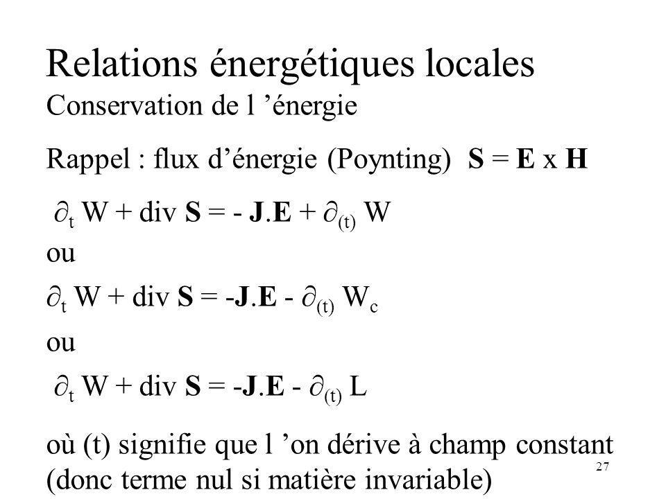 Relations énergétiques locales
