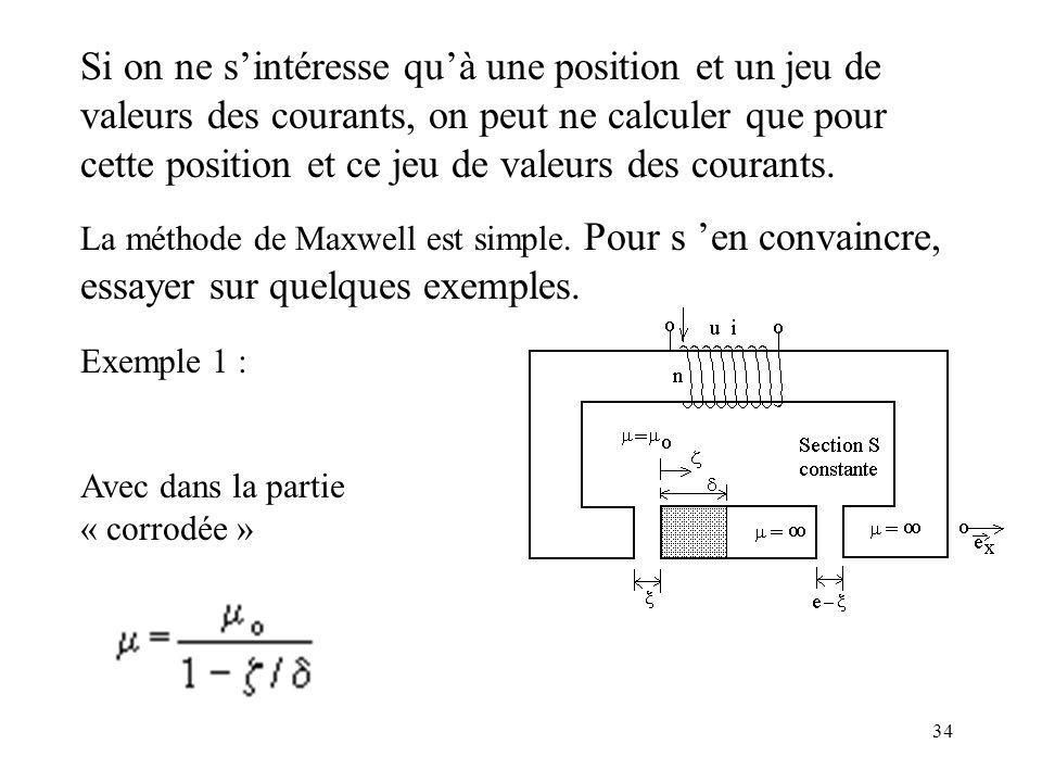 Si on ne s'intéresse qu'à une position et un jeu de valeurs des courants, on peut ne calculer que pour cette position et ce jeu de valeurs des courants.
