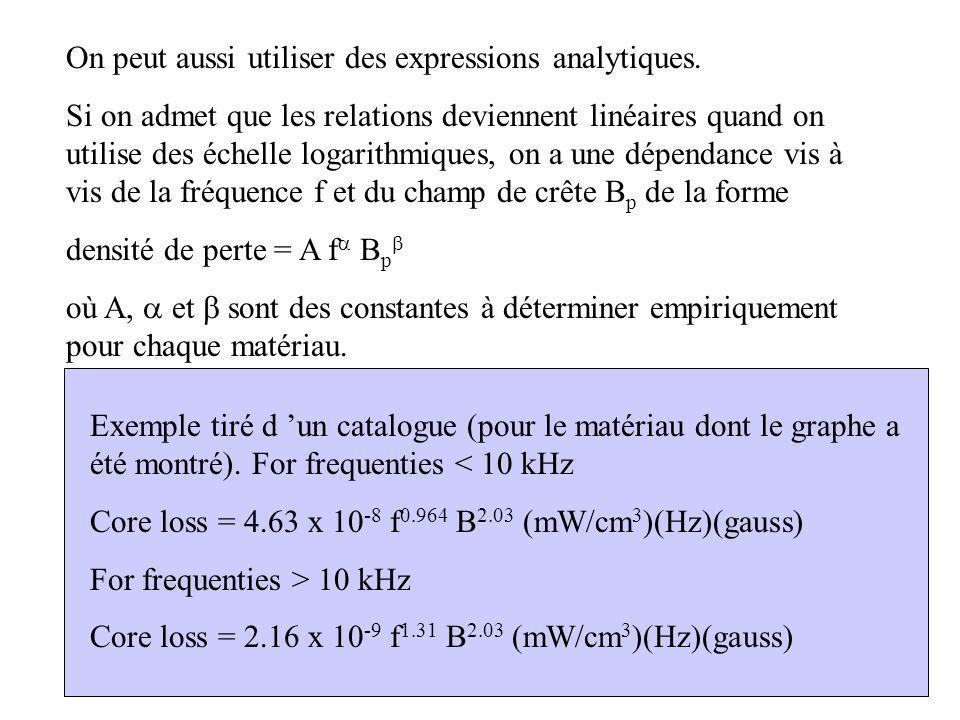 On peut aussi utiliser des expressions analytiques.