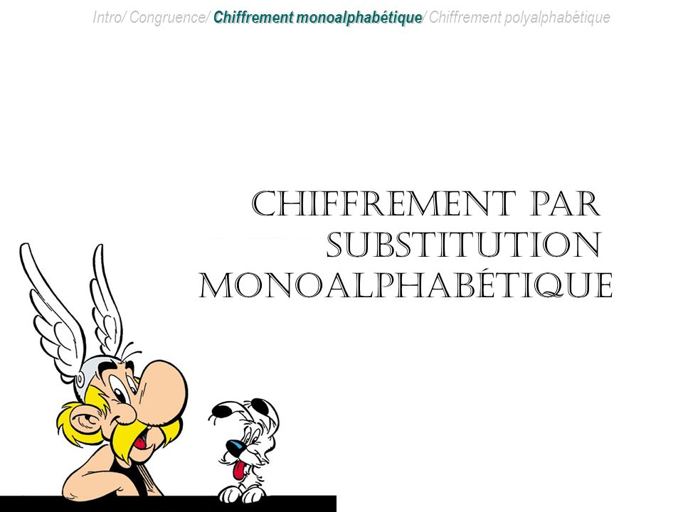 Chiffrement par substitution monoalphabétique