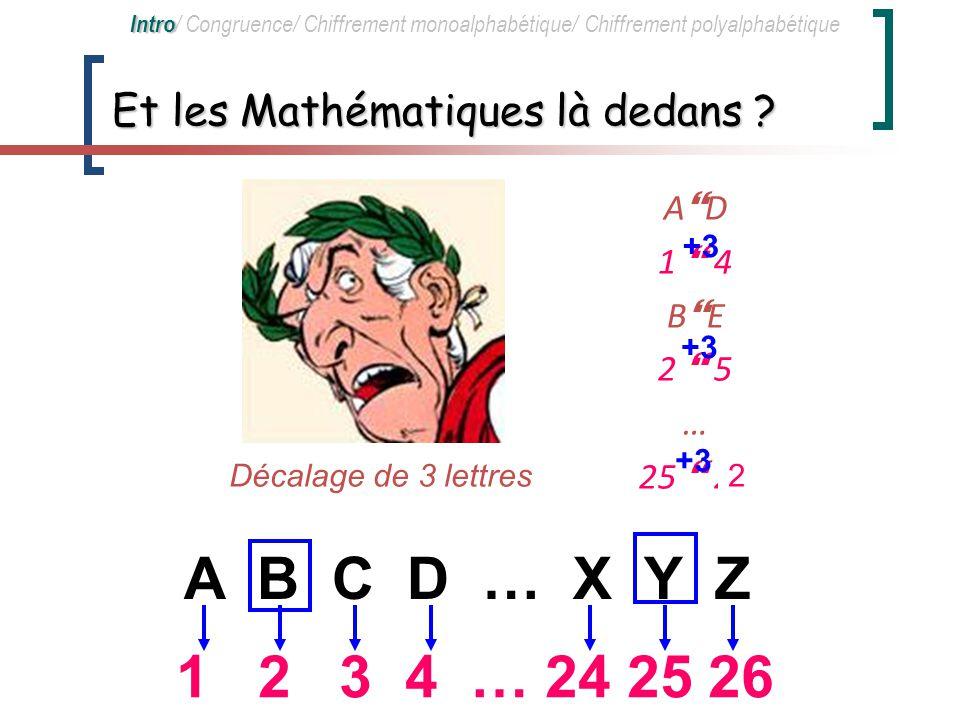 Et les Mathématiques là dedans