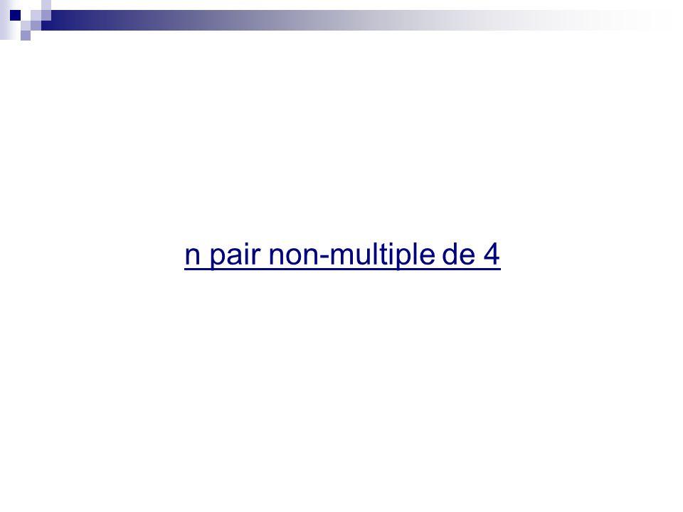 n pair non-multiple de 4
