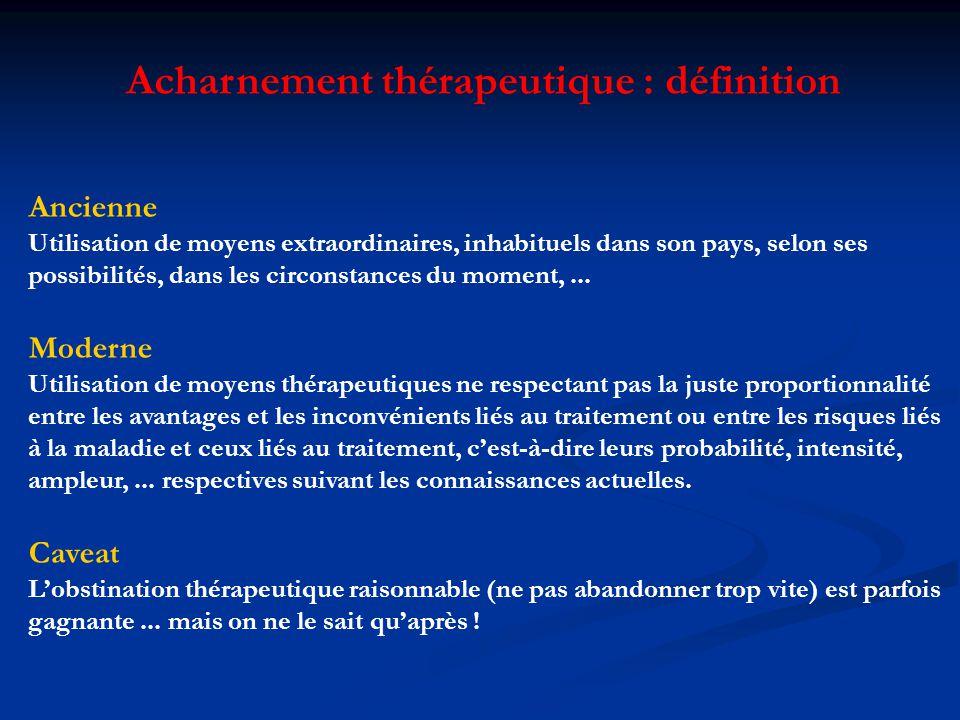 Acharnement thérapeutique : définition