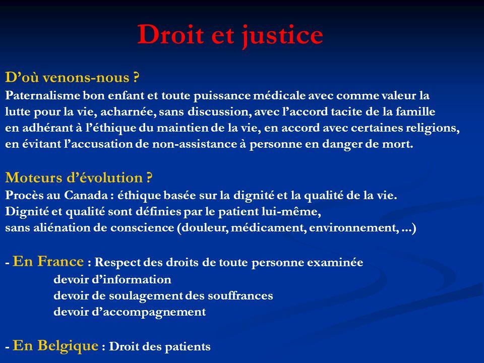 Droit et justice D'où venons-nous Moteurs d'évolution