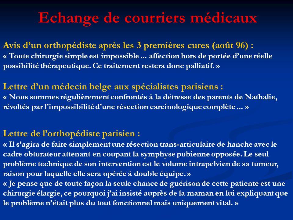 Echange de courriers médicaux