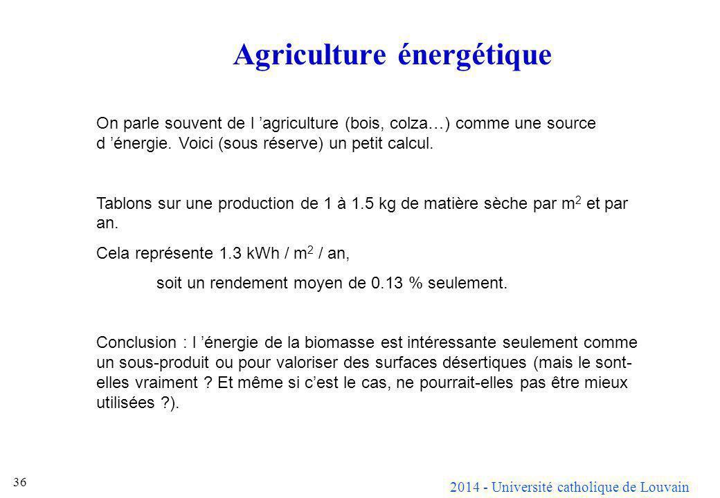 Agriculture énergétique