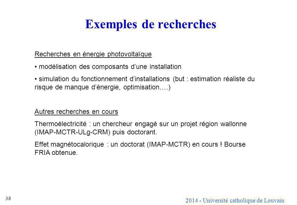Exemples de recherches